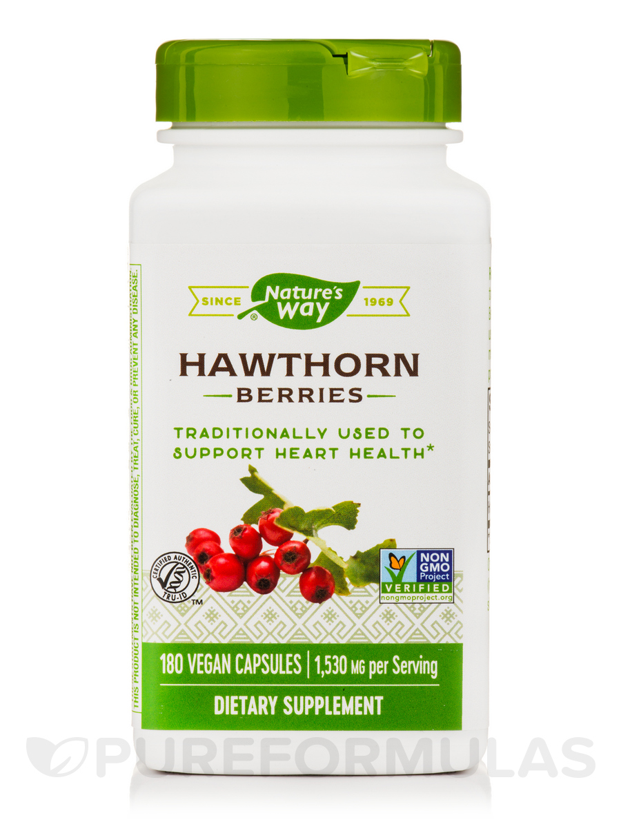 Hawthorn Berries - 180 Vegan Capsules