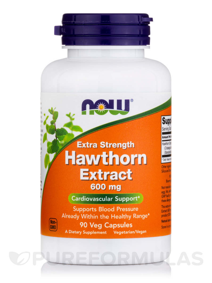 Extra Strength Hawthorn Extract 600 mg - 90 Veg Capsules