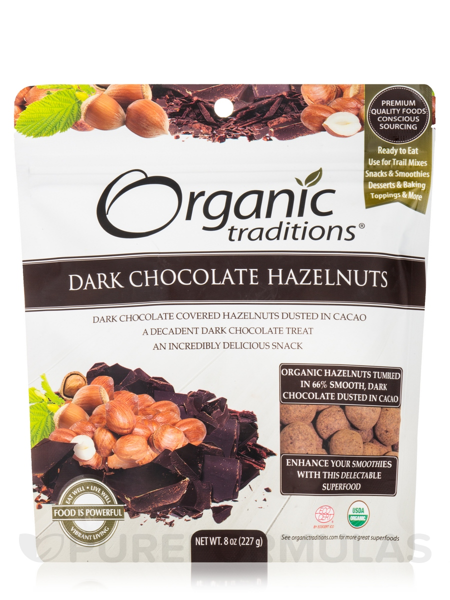 Dark Chocolate Hazelnuts - 8 oz (227 Grams)
