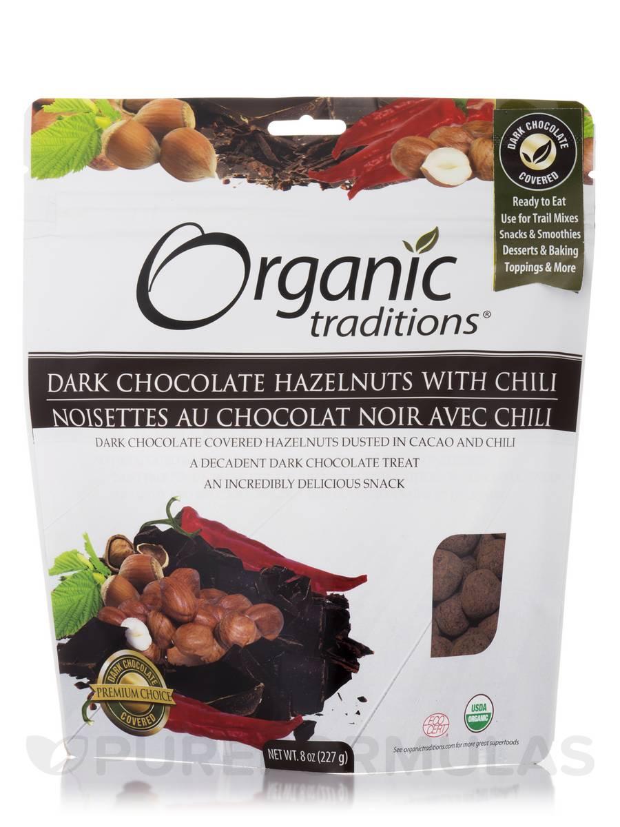 Dark Chocolate Hazelnuts with Chili - 8 oz (227 Grams)