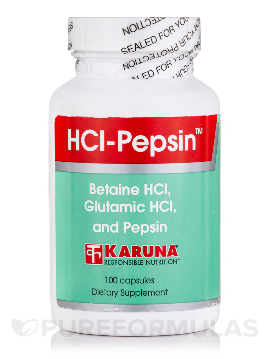Hcl and pepsin supplement