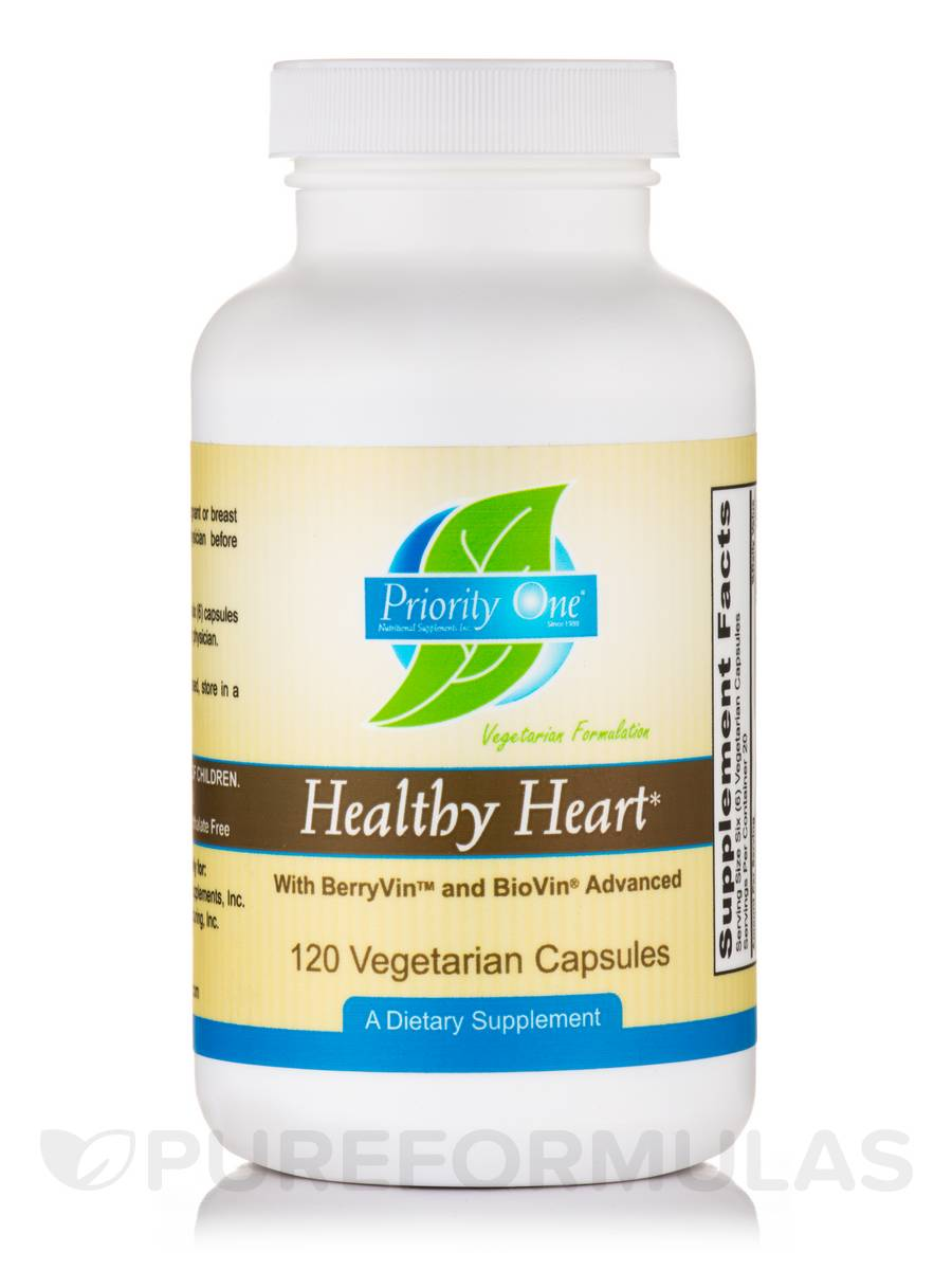 Healthy Heart With BerryVin™ and BioVin® Advanced - 120 Vegetarian Capsules