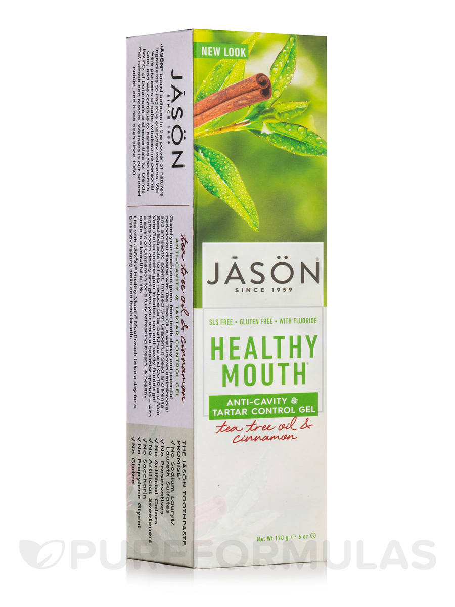 Healthy Mouth Anti-Cavity & Tartar Control Toothpaste with Fluoride (Tea Tree Oil & Cinnamon) - 6 oz (170 Grams)