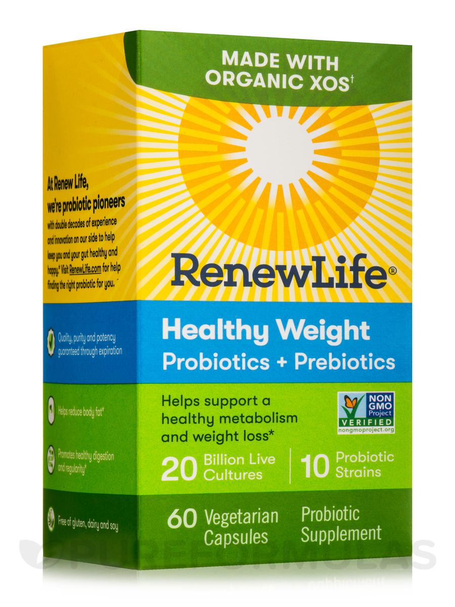 Healthy Weight Probiotics + Prebiotics - 60 Vegetarian Capsules