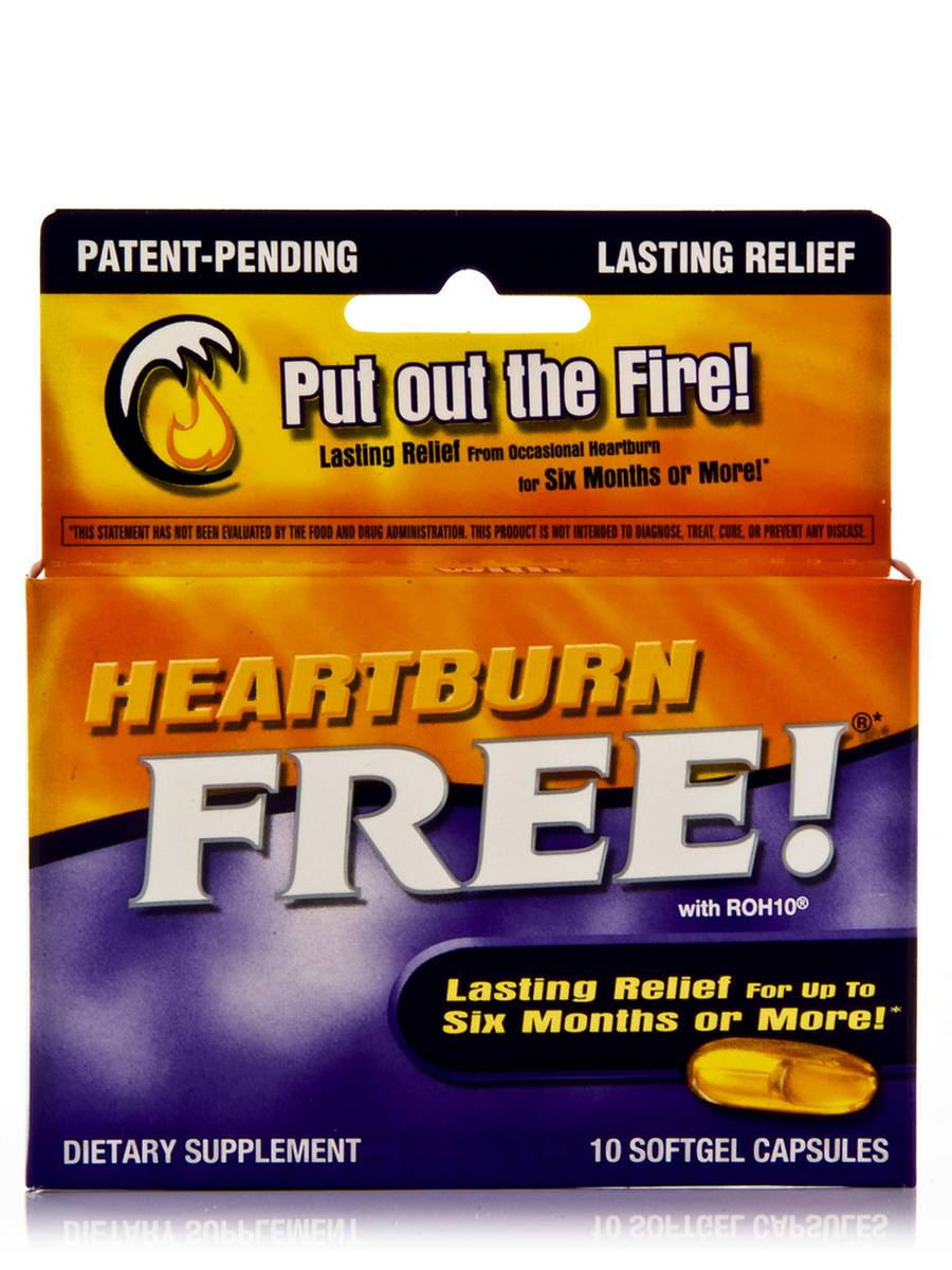Heartburn Free with ROH10 - 10 Softgels Capsules