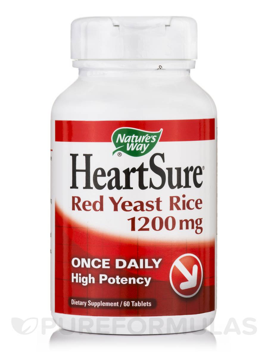 HeartSure Red Yeast Rice 1200 mg - 60 Tablets