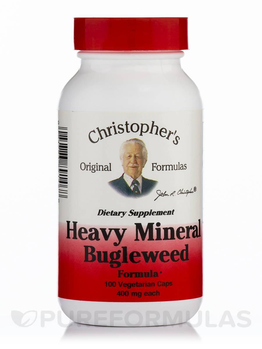 Heavy Mineral Bugleweed Formula - 100 Vegetarian Capsules