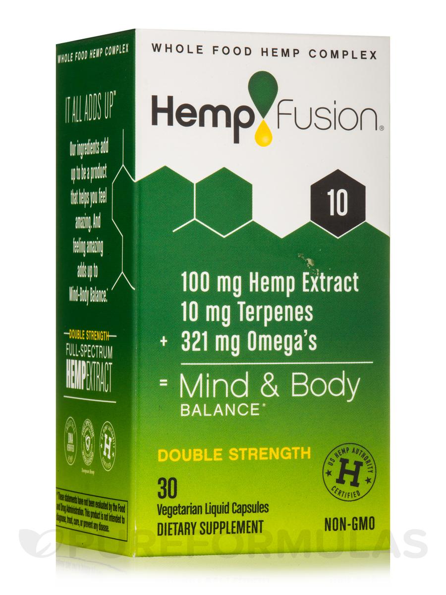 Hemp Extract 10 (100 mg of Hemp Extract) - 30 Vegetarian Liquid Capsules