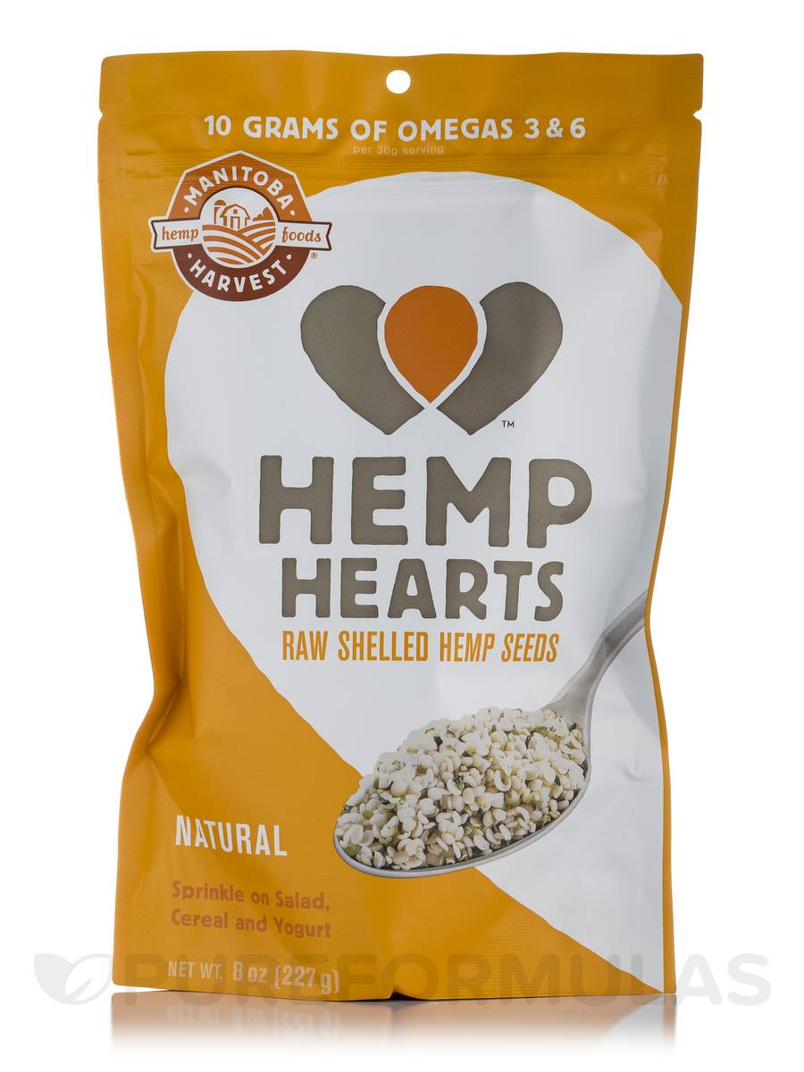 Natural Hemp Hearts - 8 oz (227 Grams)