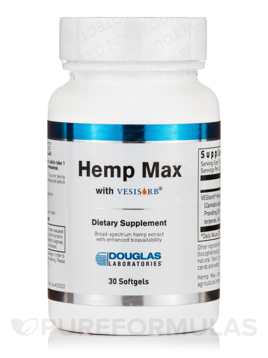 Hemp Max with VESIsorb® - 30 Softgels