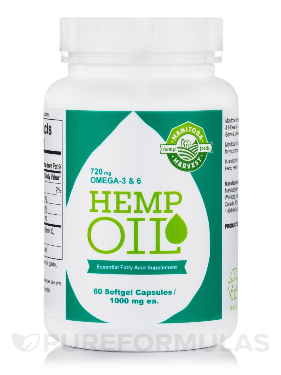 Hemp Oil 1000 mg - 60 Softgel Capsules