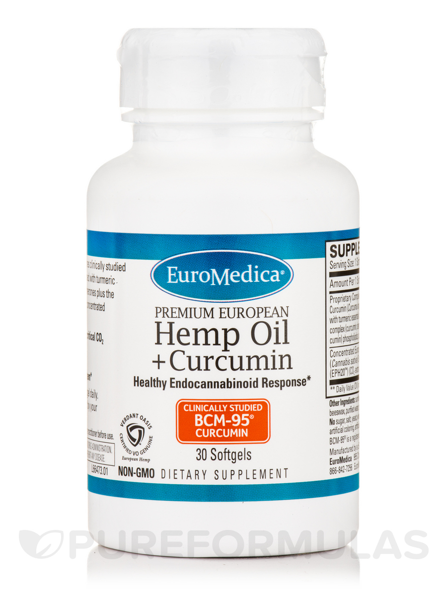 Hemp Oil + Curcumin - 30 Softgels