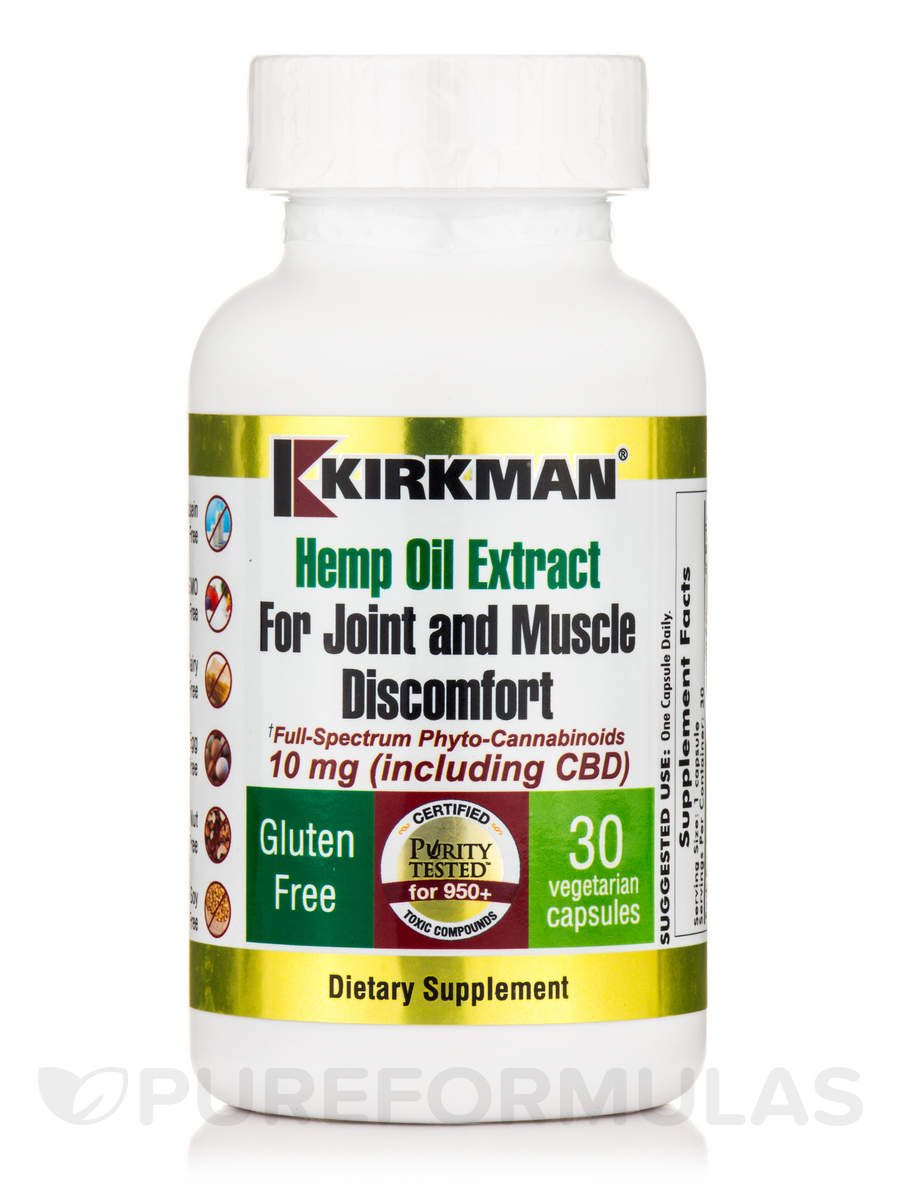 Hemp Oil Extract for Joint and Muscle Discomfort - 30 Vegetarian Capsules