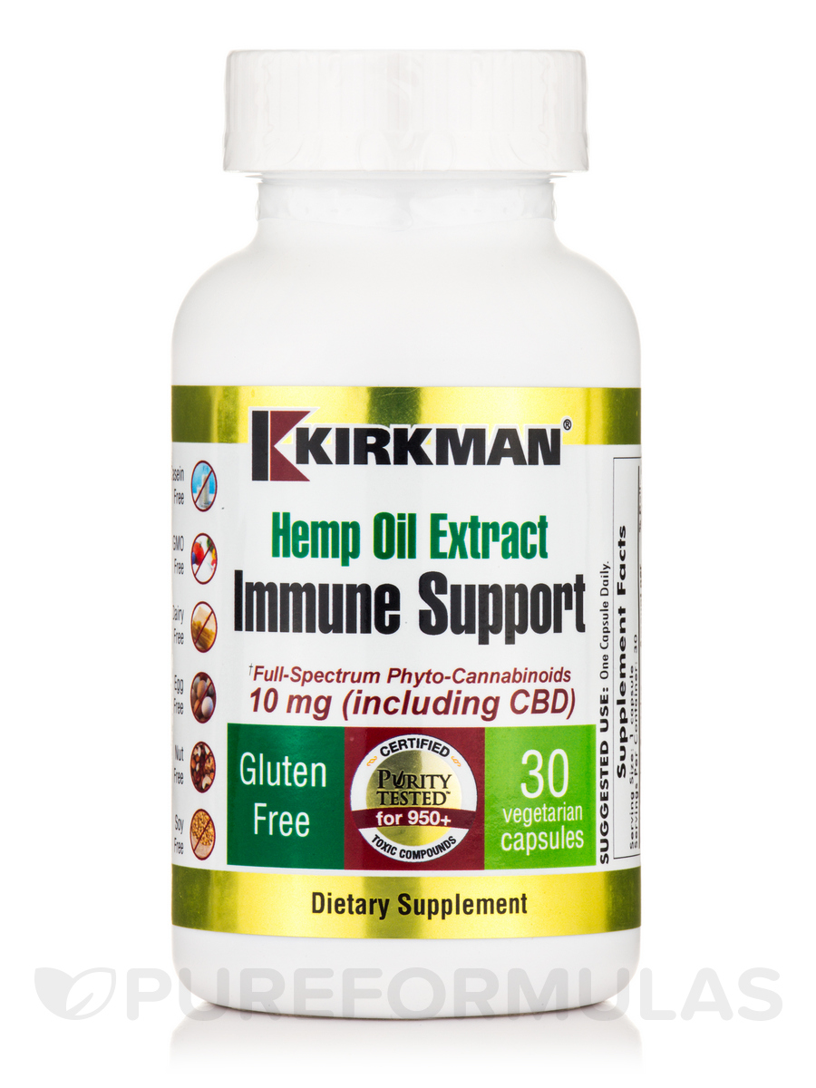 Hemp Oil Extract Immune Support - 30 Vegetarian Capsules