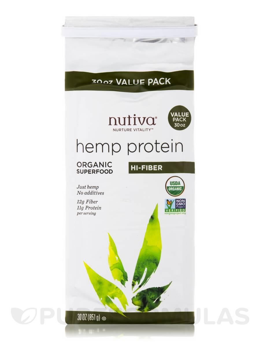 Organic Hemp Protein, Hi-Fiber - 30 oz (851 Grams)