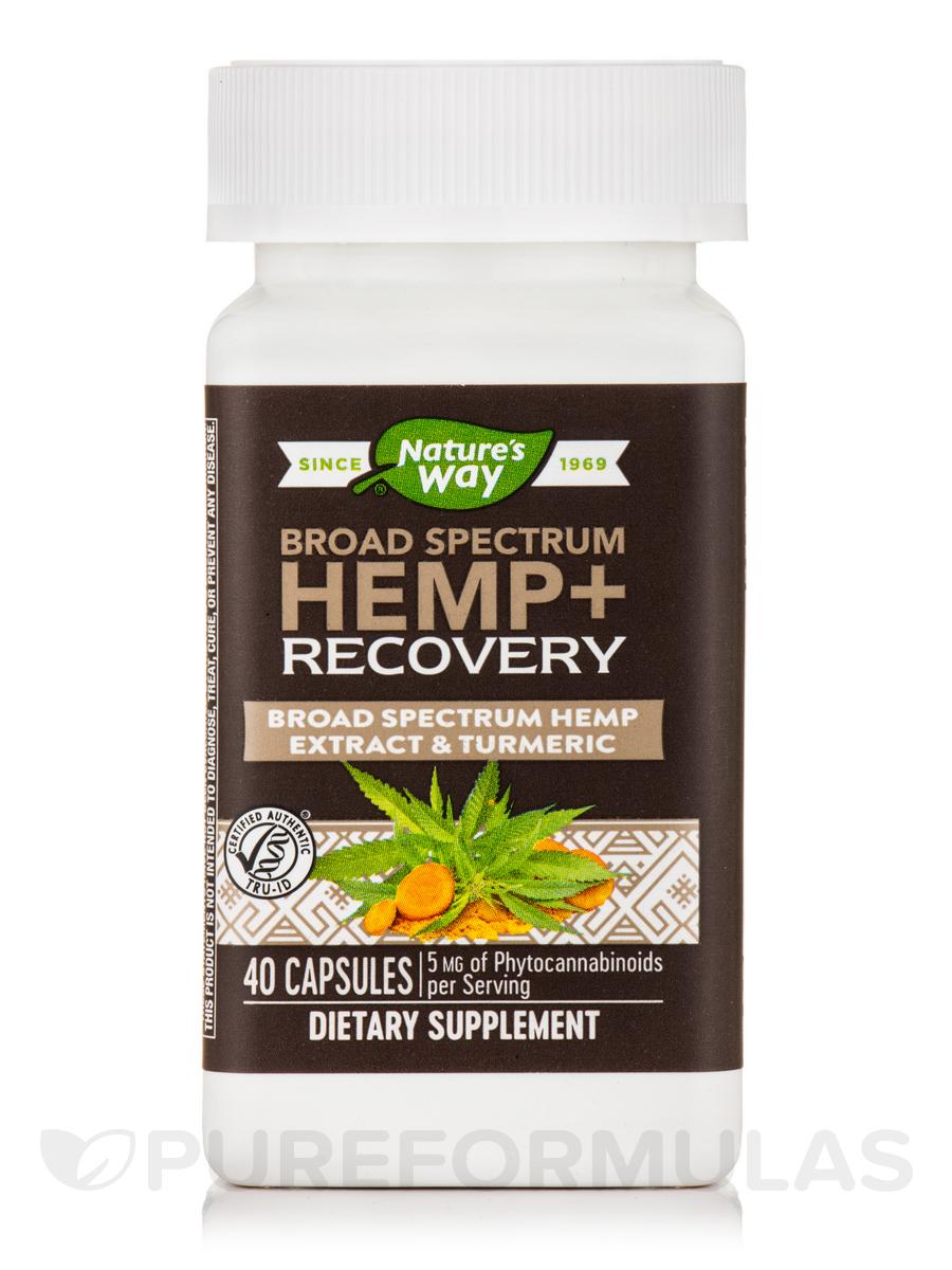 Hemp + Recovery Broad Spectrum - 40 Capsules