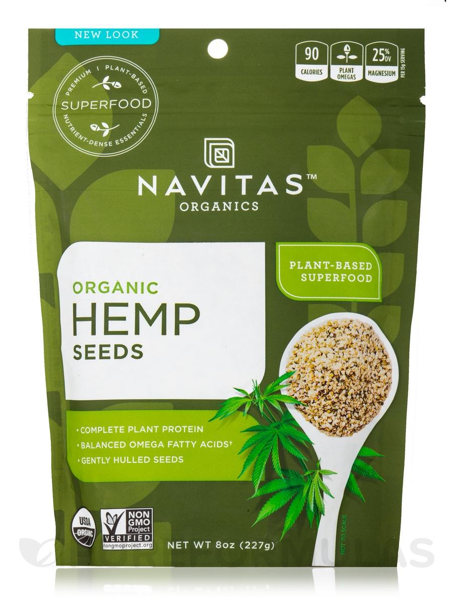 Organic Hemp Seeds - 8 oz (227 Grams)