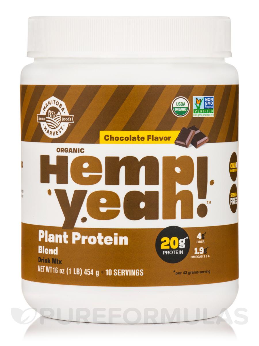 Hemp Yeah! Plant Protein Blend Chocolate Flavor (Organic) - 16 oz (454 Grams)