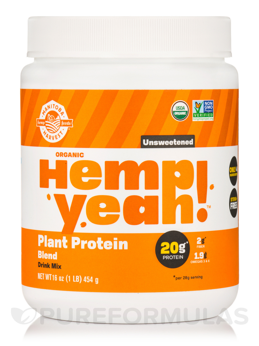 Hemp Yeah! Plant Protein Blend Unsweetened Flavor (Organic) - 16 oz (454 Grams)