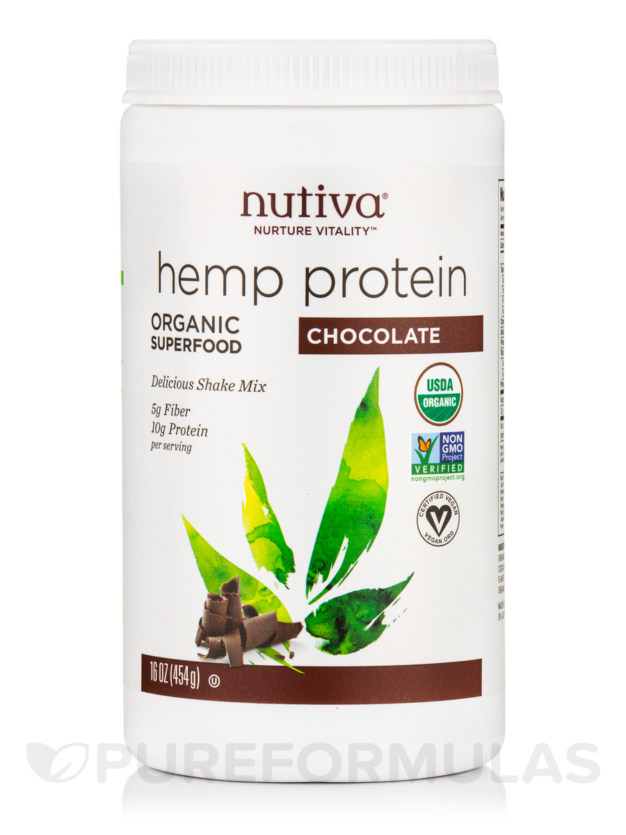 Organic Hemp Protein, Chocolate Flavor - 16 oz (454 Grams)