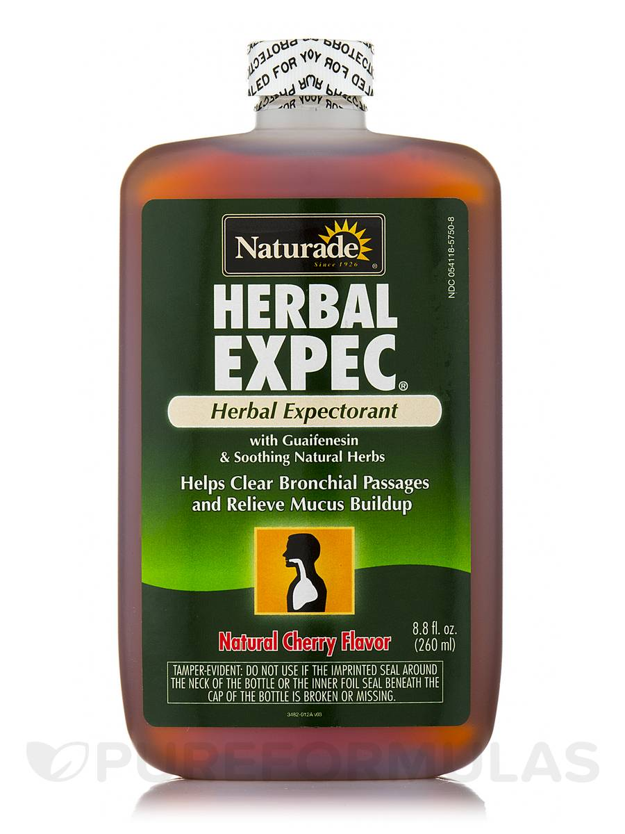 Herbal Expectorant Cough Syrup (Cherry Flavor) - 8.8 fl. oz (260 ml)