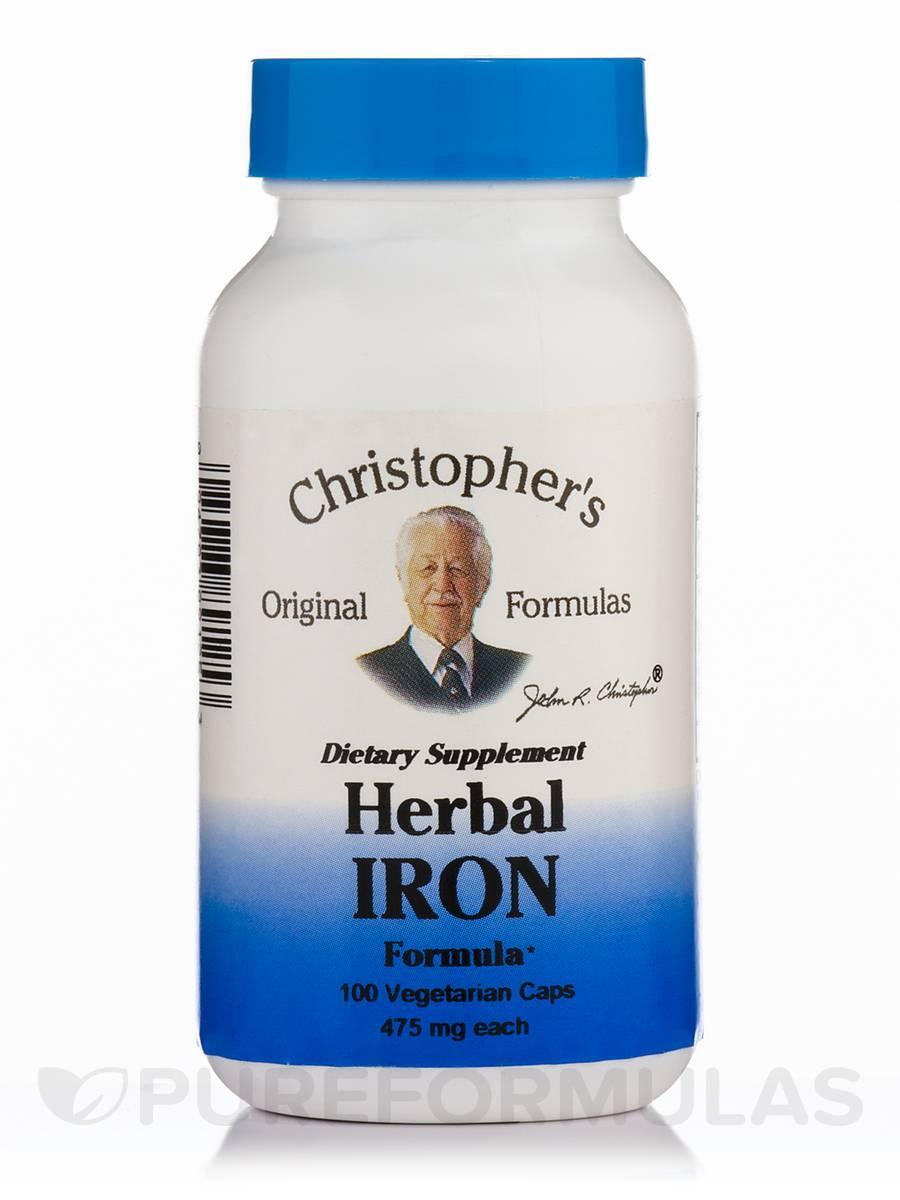 Herbal Iron Formula - 100 Vegetarian Capsules
