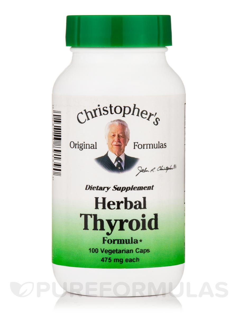 Herbal Thyroid Formula 475 mg - 100 Vegetarian Capsules