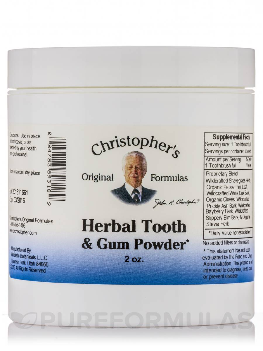 Herbal Tooth & Gum Powder - 2 oz