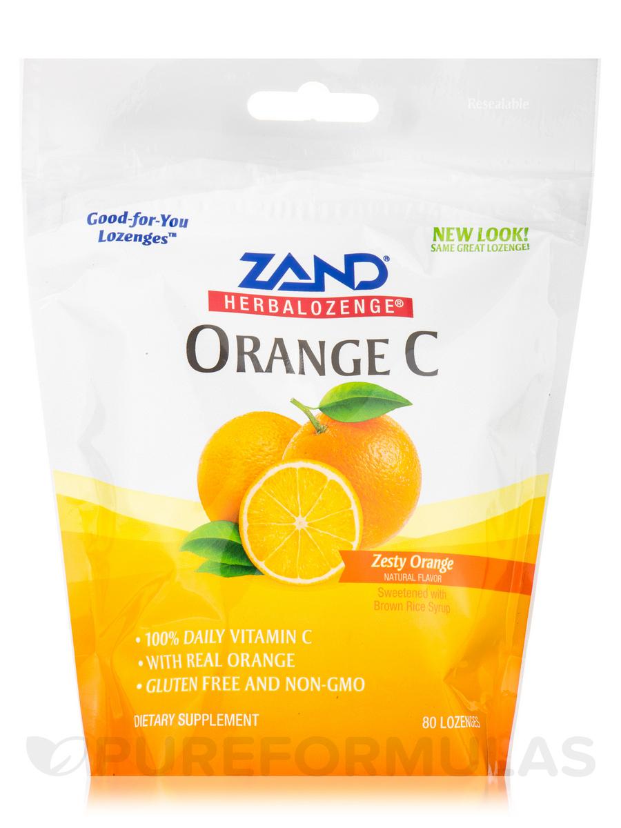HerbaLozenge® Orange C (Zesty Orange Natural Flavor) - 80 Lozenges