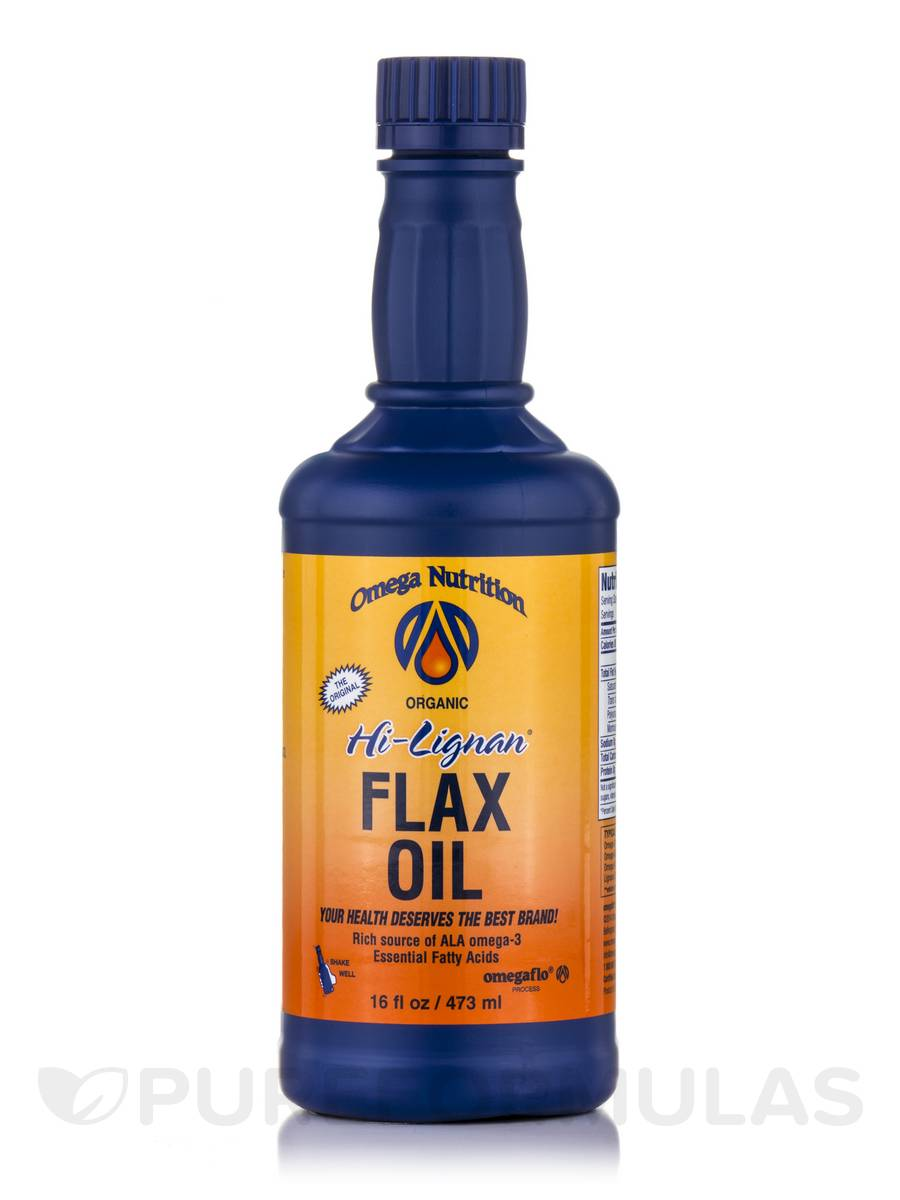 Hi Lignan Flax Oil (Organic) - 16 fl. oz (473 ml)