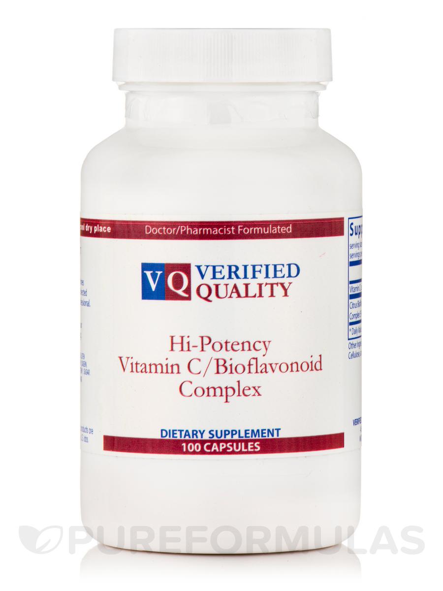 Hi-Potency Vitamin C & Bioflavonoids Complex - 100 Capsules