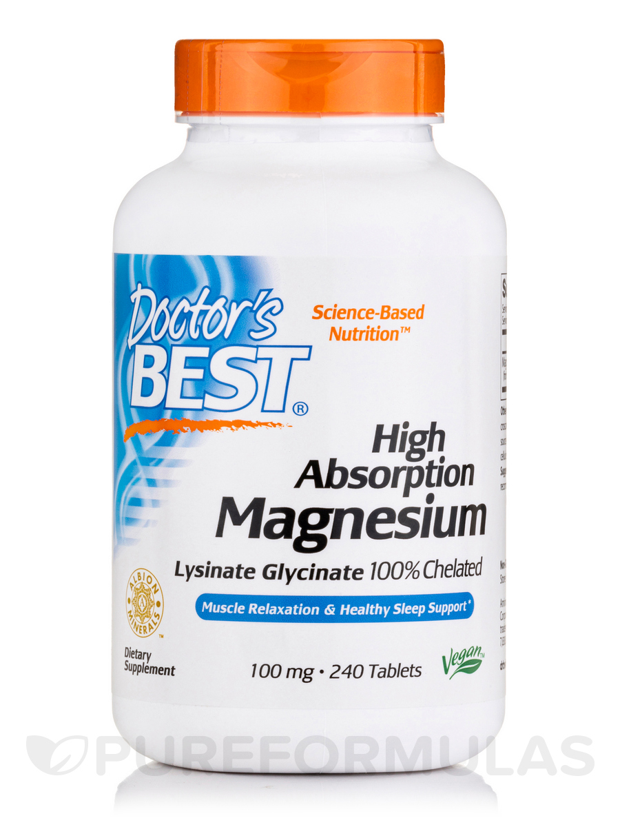 High Absorption 100% Chelated Magnesium - 240 Tablets