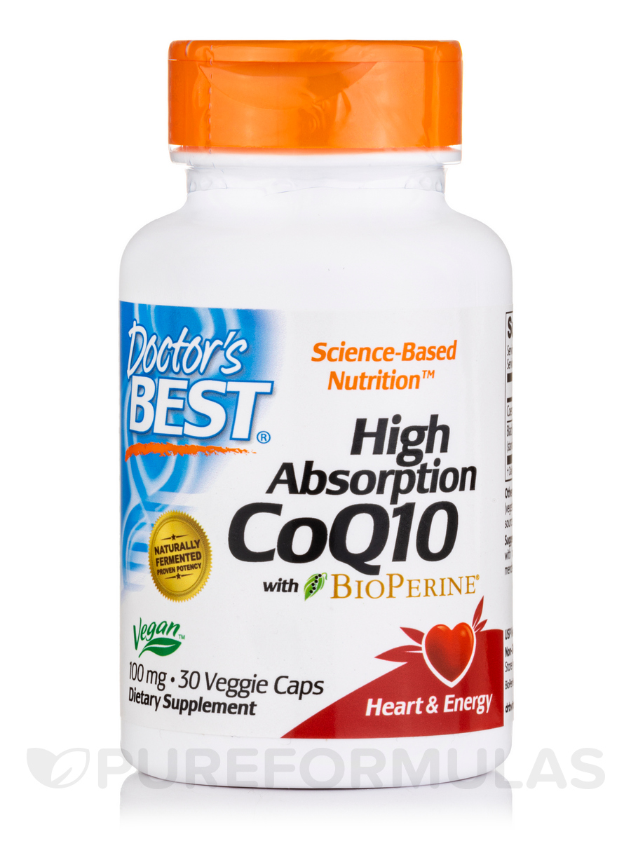 High Absorption CoQ10 with BioPerine® - 30 Veggie Capsules