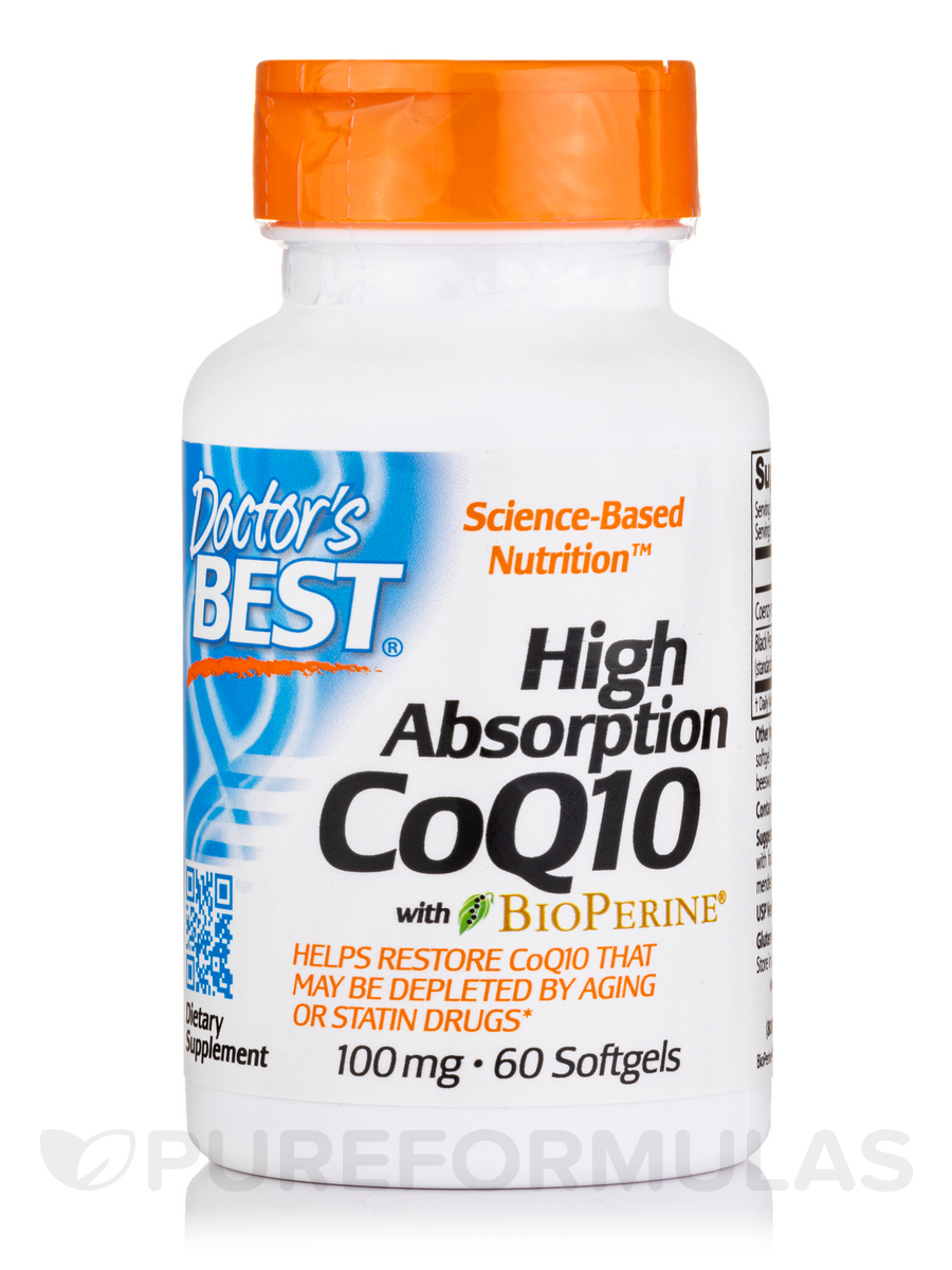 High Absorption CoQ10 with BioPerine® 100 mg - 60 Softgels
