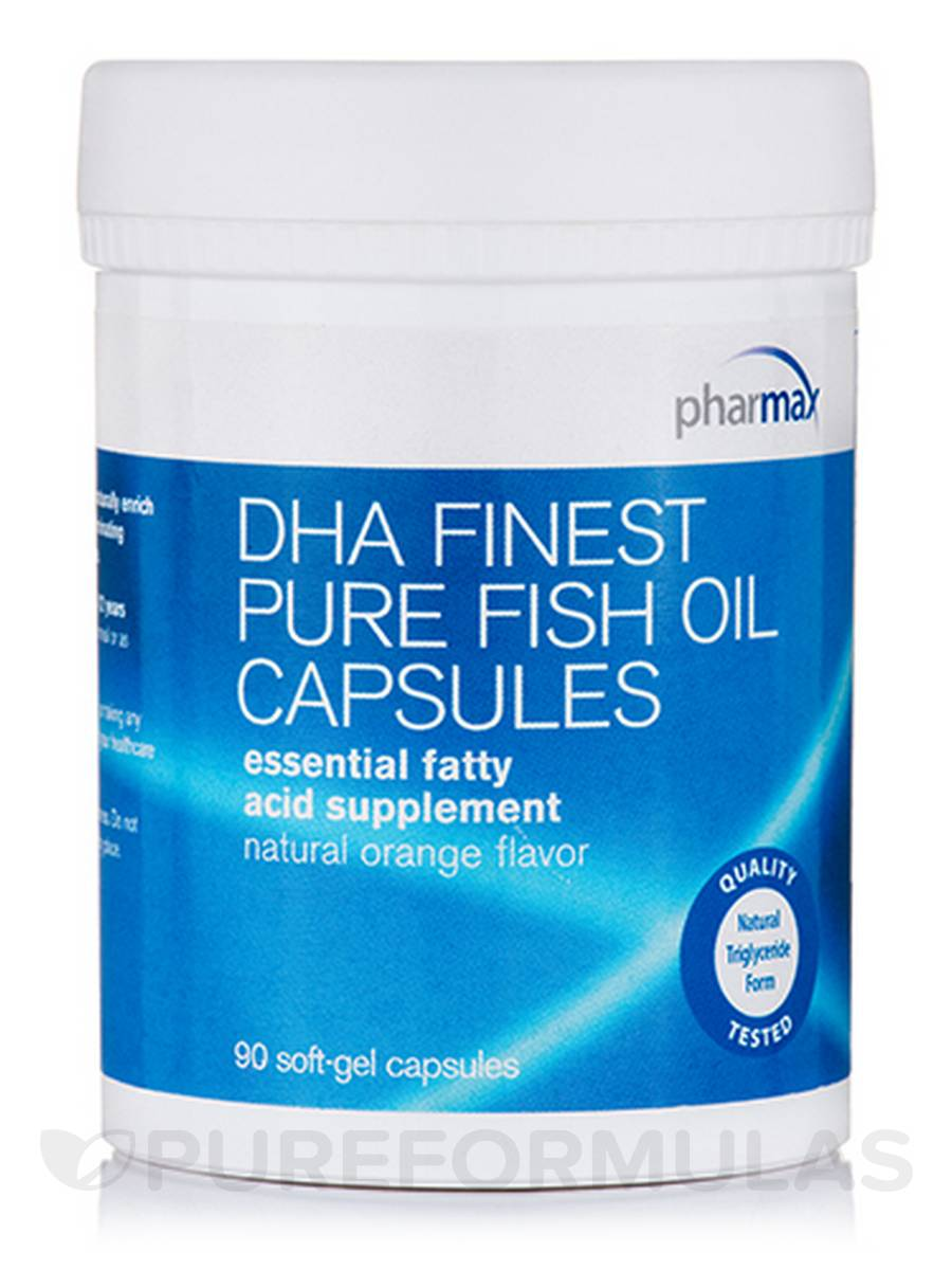 DHA Finest Pure Fish Oil , Natural Orange Flavor - 90 Soft-Gel Capsules