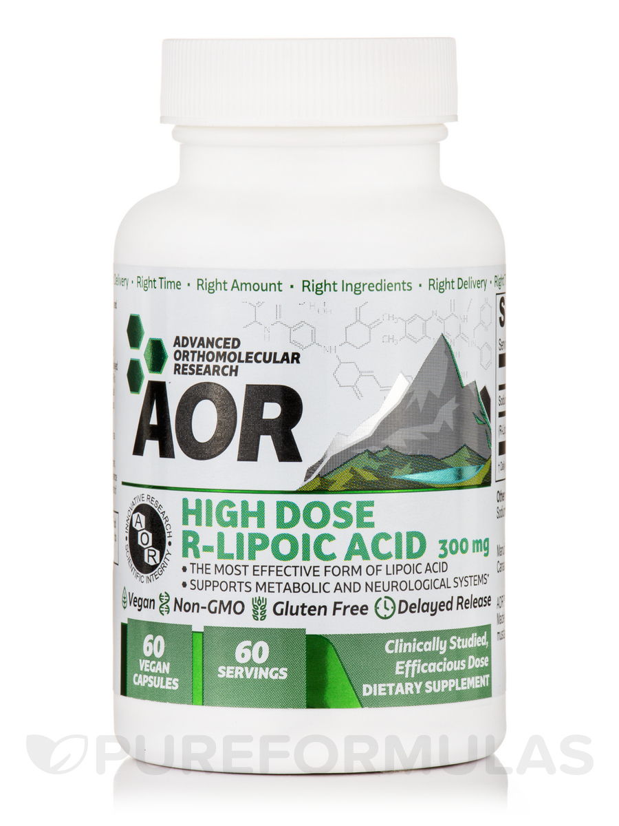 High Dose R-Lipoic Acid 300 mg - 60 Vegan Capsules