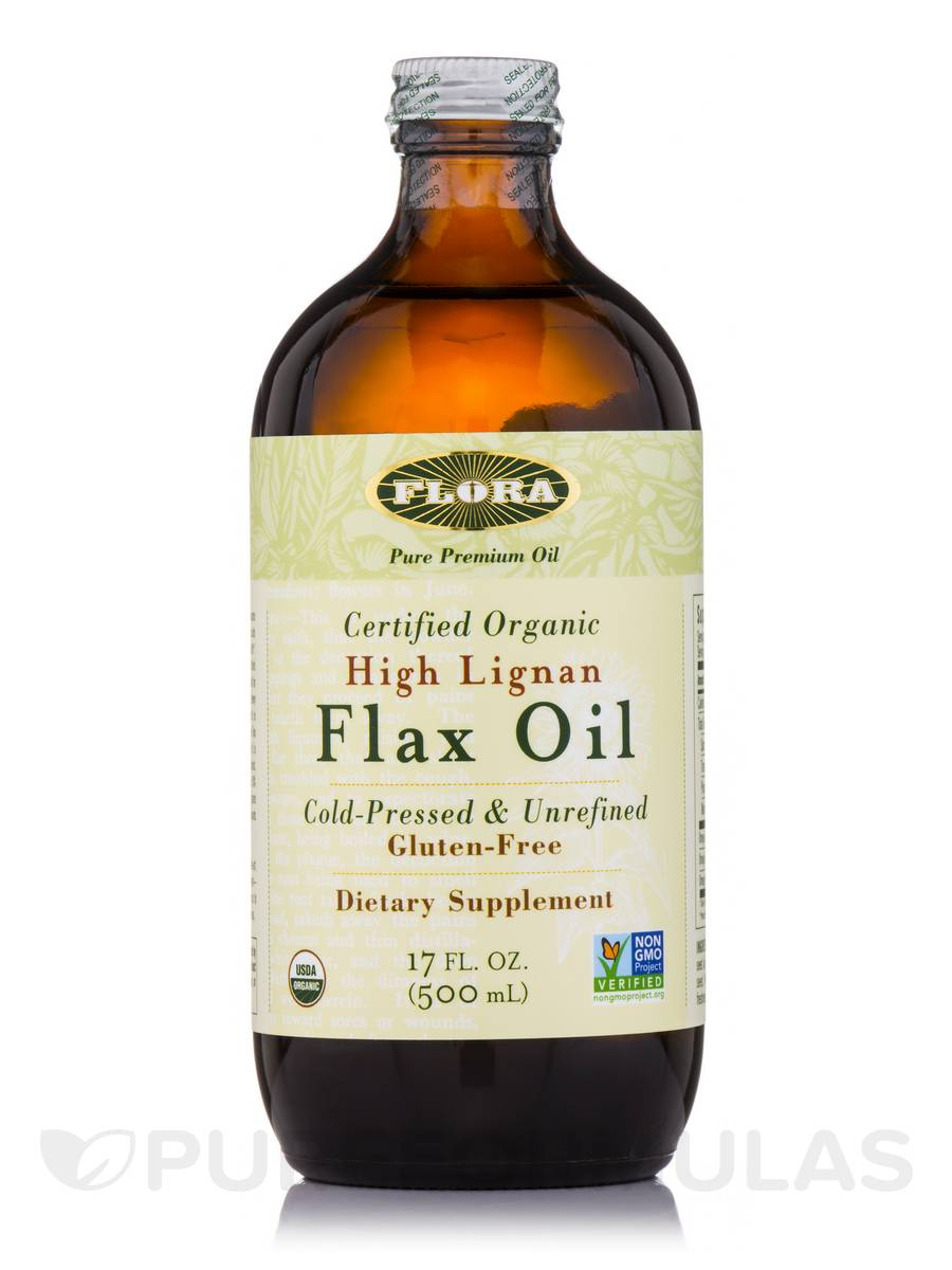 High Lignan Flax Oil - 17 fl. oz (500 ml)