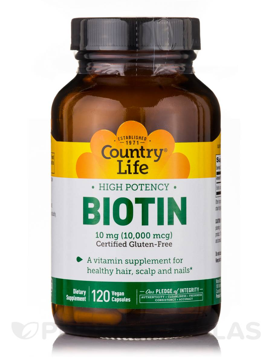 High Potency Biotin 10 mg - 120 Vegan Capsules