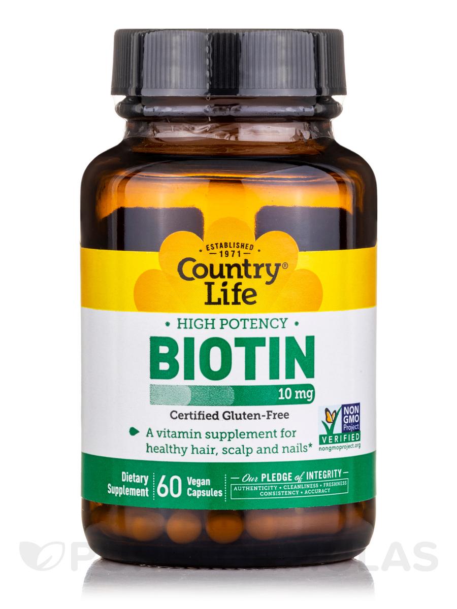 High Potency Biotin 10 mg - 60 Vegan Capsules