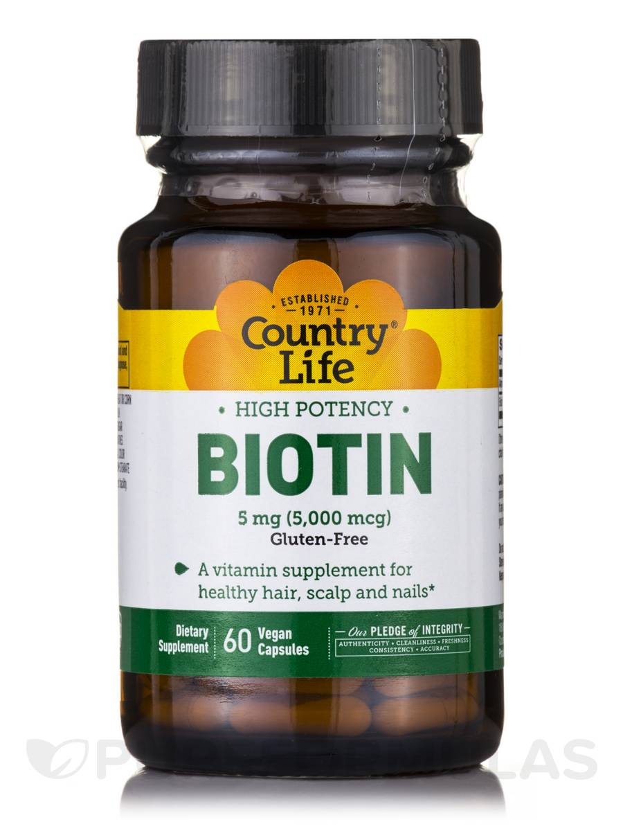 High Potency Biotin 5 mg - 60 Vegan Capsules