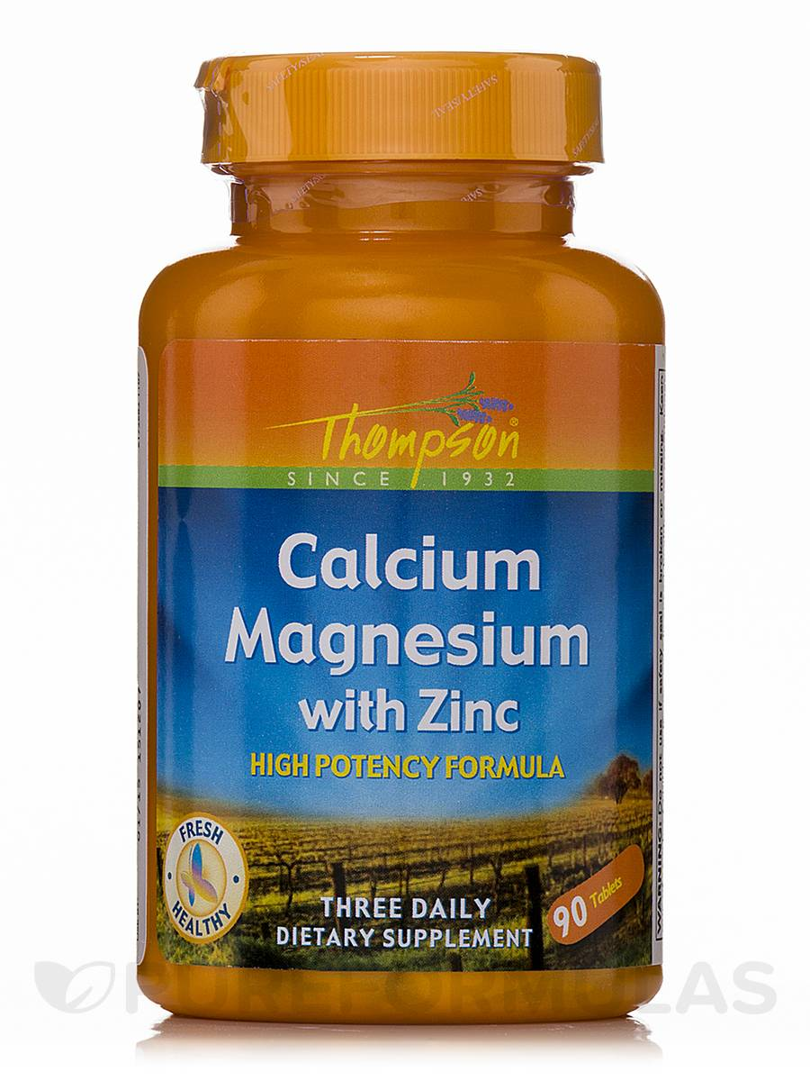 Calcium Magnesium with Zinc (High Potency Formula) - 90 Tablets
