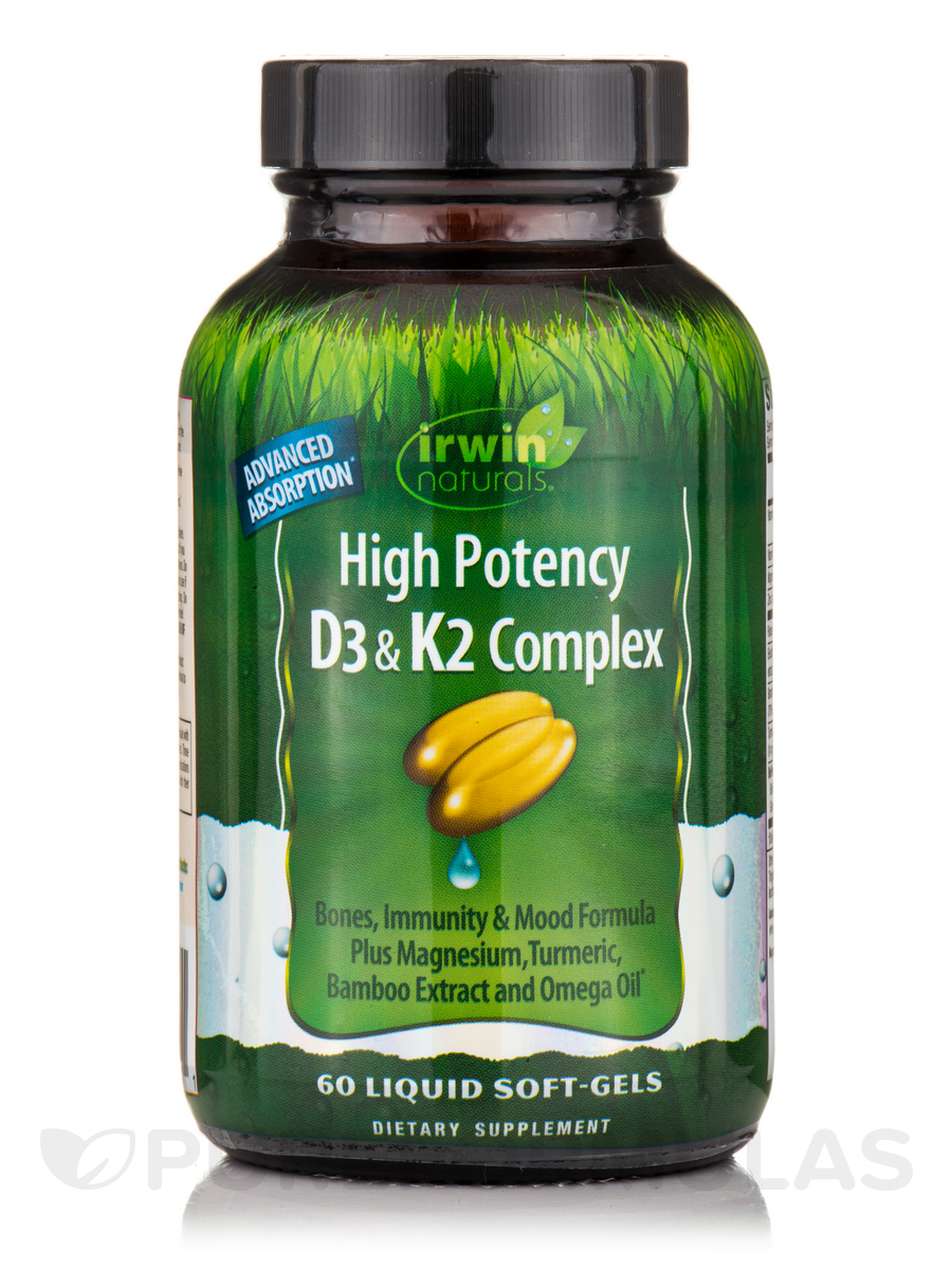 High Potency D3 & K2 Complex - 60 Liquid Soft-Gels