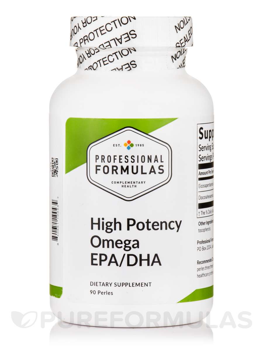 High Potency Omega EPA/DHA - 90 Perles