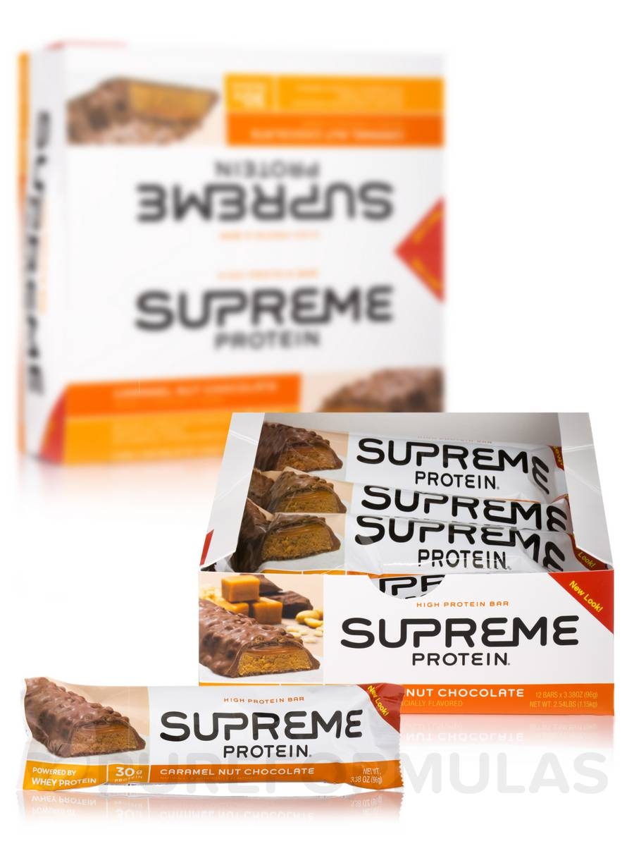 High Protein Bar Caramel Nut Chocolate - Box of 12 Bars