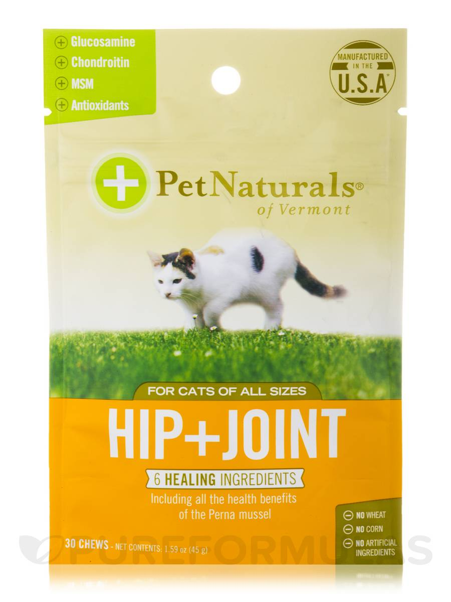 Hip + Joint Chews for All Cats - 30 Chews (1.59 oz / 45 Grams)