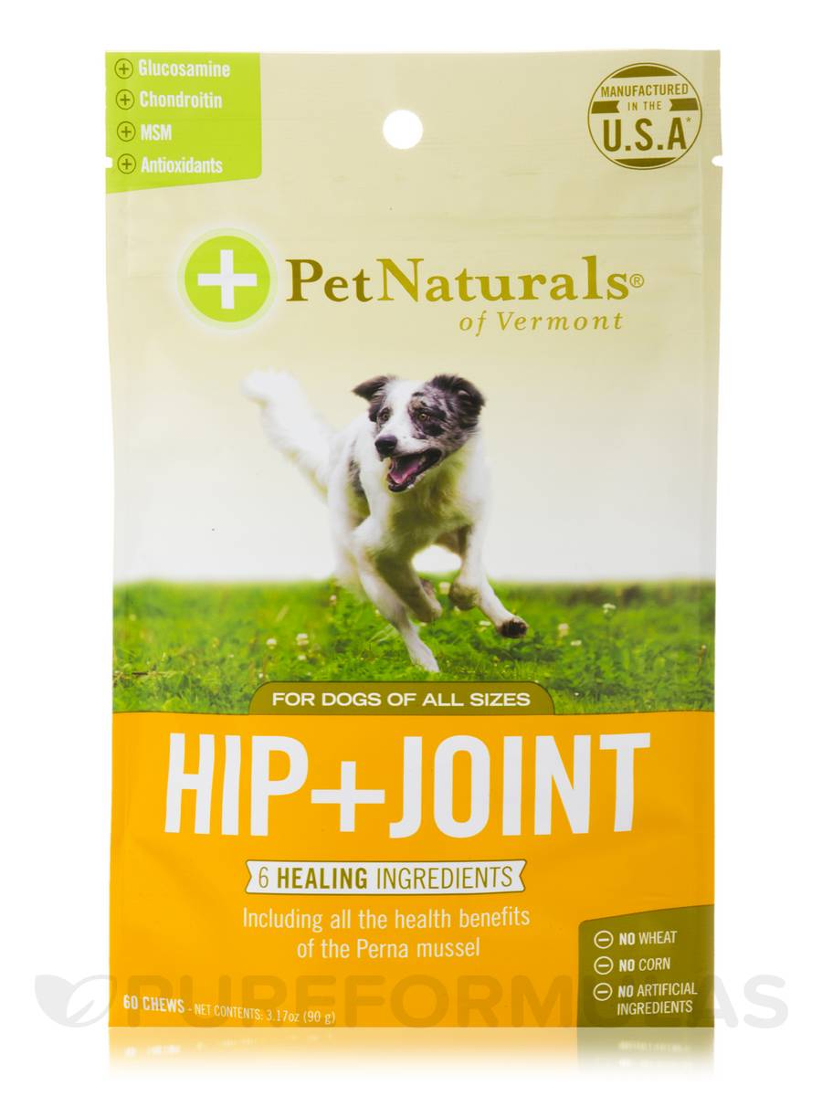 Hip + Joint Chews for All Dogs - 60 Chews (3.17 oz / 90 Grams)
