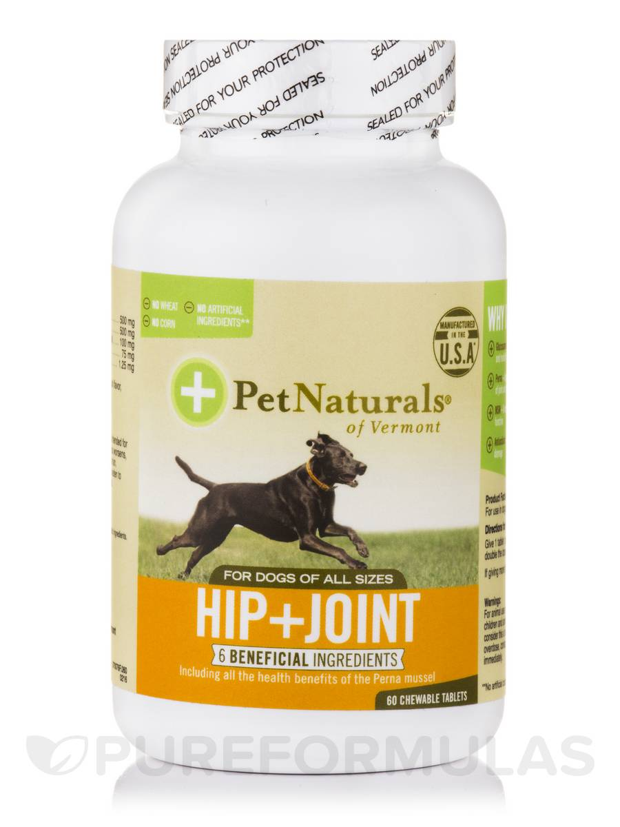 Hip + Joint Tablets for All Dogs - 60 Chewable Tablets
