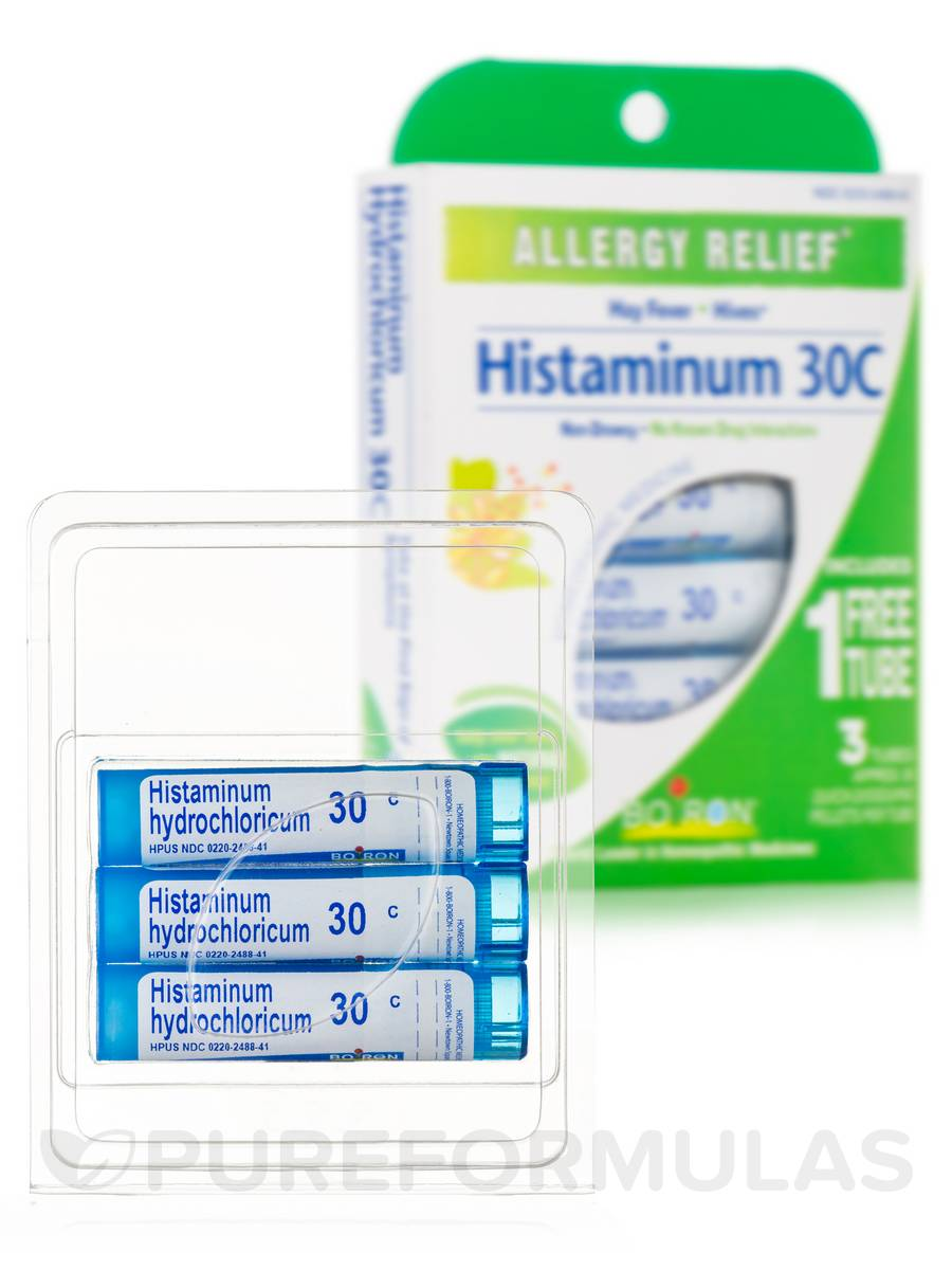 Histaminum 30C (Allergy Relief) - 3 Tubes (Approx. 80 Pellets Per Tube)