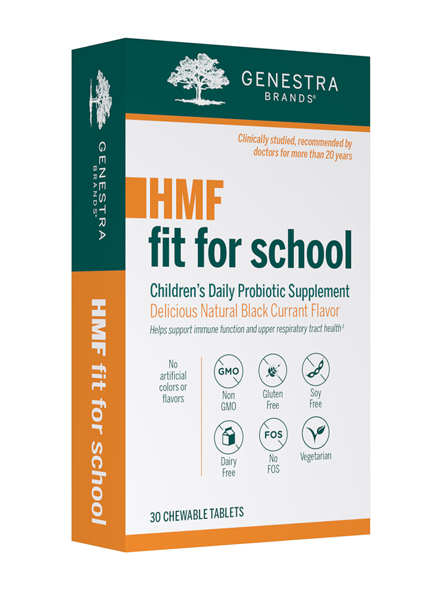 HMF Fit For School, Natural Blackcurrant Flavor - 30 Chewable Tablets
