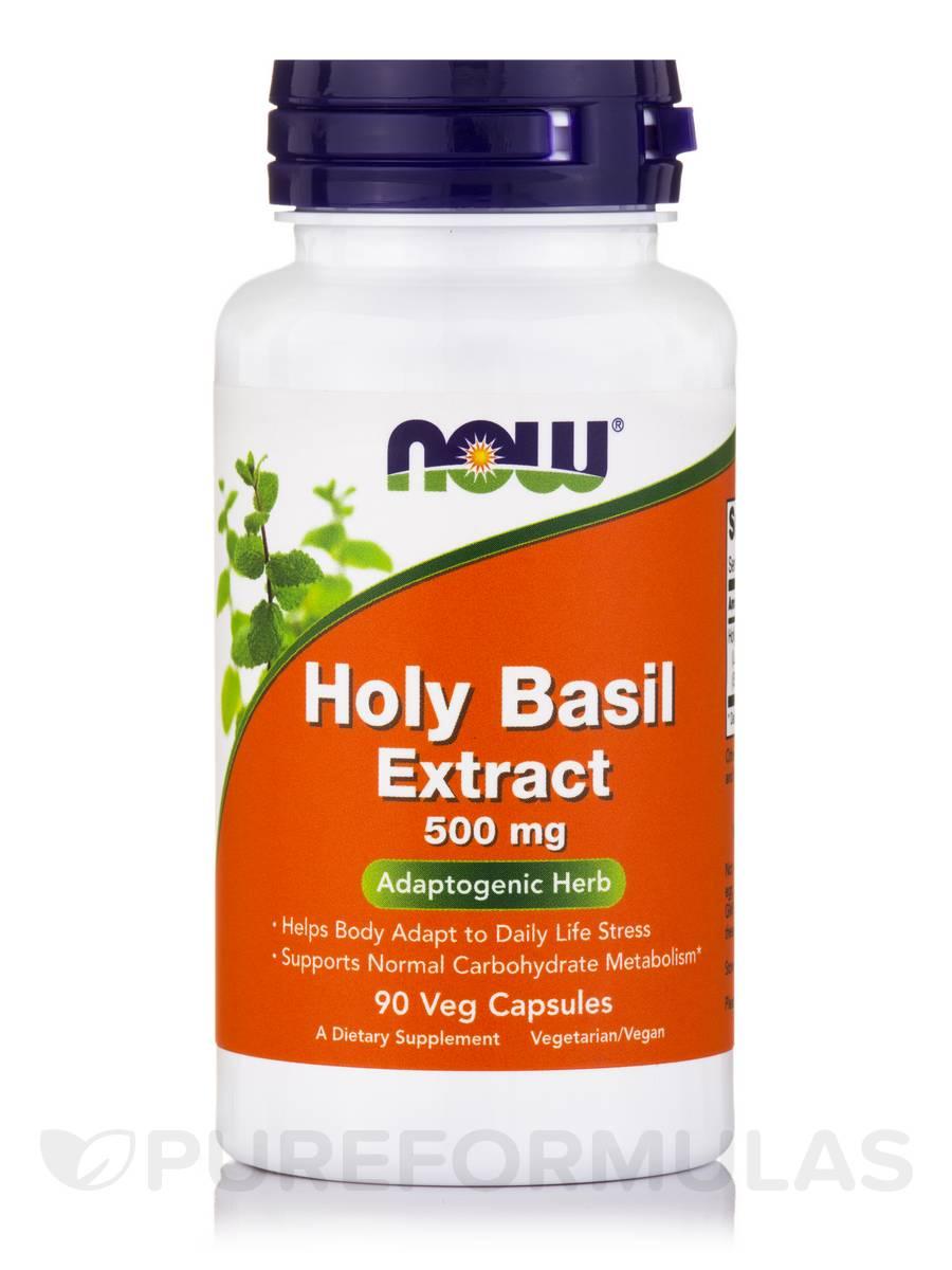 Holy Basil Extract 500 mg - 90 Vegetarian Capsules